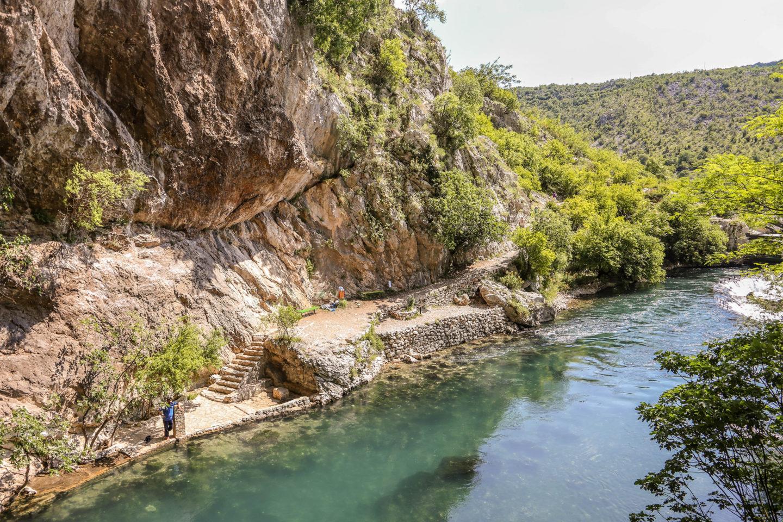 river buna, mostar, blagaj tekke, bosnia