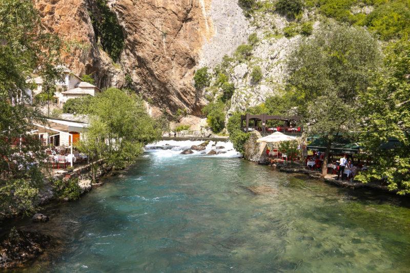 river buna, mostar, bosnia, blagaj tekke