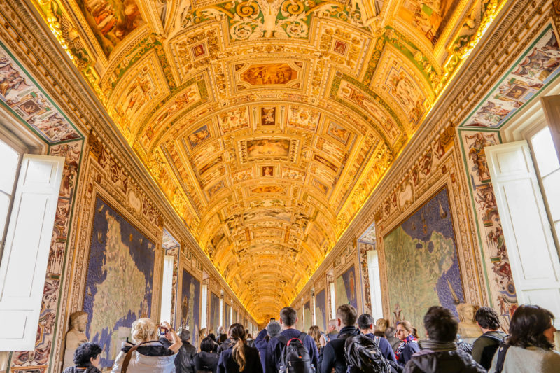 vatican rome map room room of maps rome italy